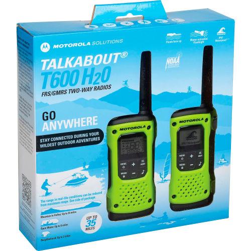 MOTOROLA Talkabout® T600 Waterproof Rechargeable Two-Way Radios 2 Pack Green