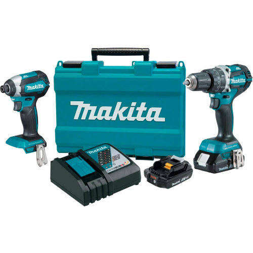 Makita XT269R, 18V Compact Lithium-Ion Brushless Cordless Combo Kit, 2 Pc. by