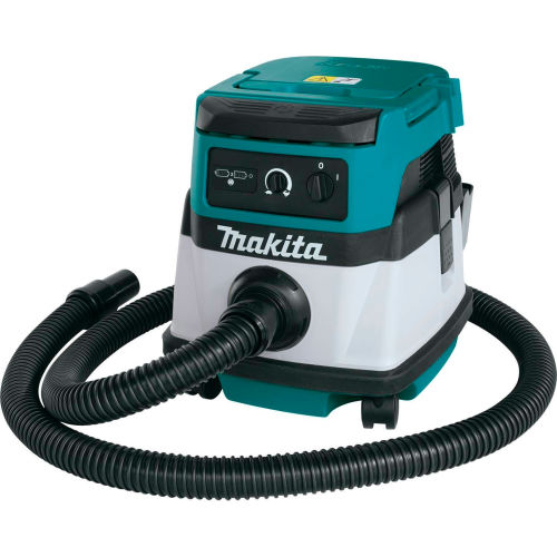 Makita XCV04Z 18V X2 36V Cordless/Corded 2.1 Gal HEPA Filter Dry Dust Vacuum w/ Adapters, Tool Only by