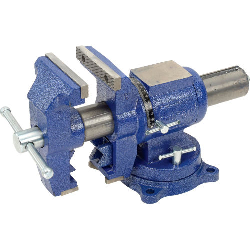 "Wilton 69999 5"" Jaw Width 3"" Throat Depth Multi-Purpose Vise W/ Rotating Head, V Jaw, & Swivel Base by"