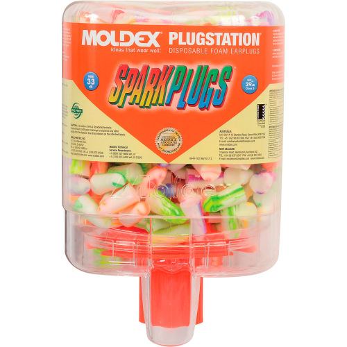 Moldex Spark Plugs Uncorded Earplugs Pack of 10 Pairs with Official Moldex Case