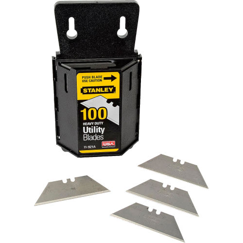 Stanley 11-921A Heavy Duty Utility Blades W/ Dispenser (100 Pack) by