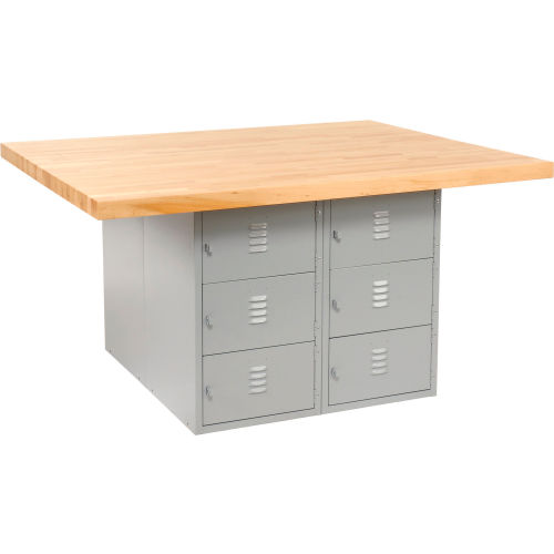 Four-Station Workbench 0 Vises by