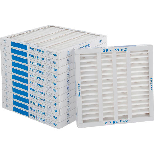 Sterling Seal KP-5251004858x2 Purolator Key Pleat Extended Surface Pleated Air Filter Mechanical MERV 8 Pack of 2 16 W x 20 H x 1 D