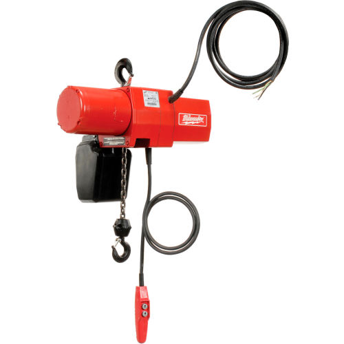 Milwaukee 2 Ton Electric Chain Hoist 20' Lift 115/230V, 1-Phase by