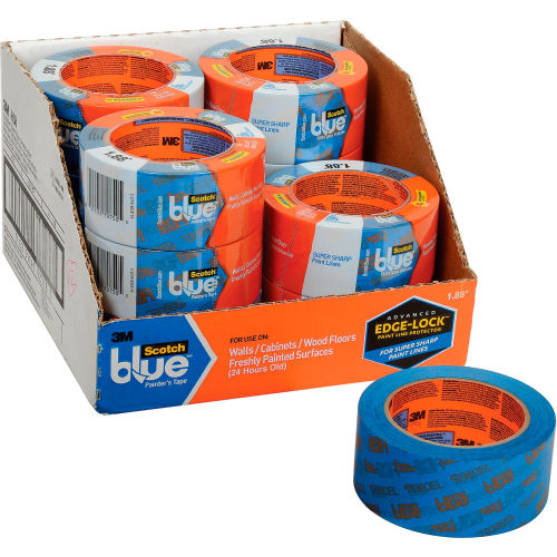 """3M Scotch-Blue Painter's Tape For Delicate Surfaces #2080 2"""" X 60 Yds (24 Rls/Cs) Package Count 24 by"""