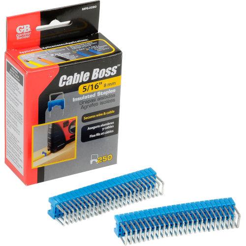 "Gardner Bender MPS-2080 Cable Boss Staples 5/16"" Blue 250 pk. by"