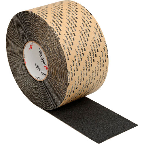 3M Safety-Walk Slip-Resistant Med. Resilient Tapes/Treads 310, BK, 4 in x 60 ft,1/case by