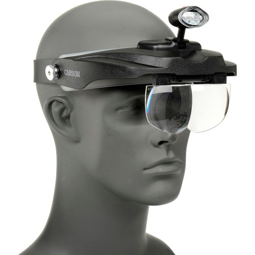 Carson Optical Magnivisor Deluxe Head Visor Magnifier by