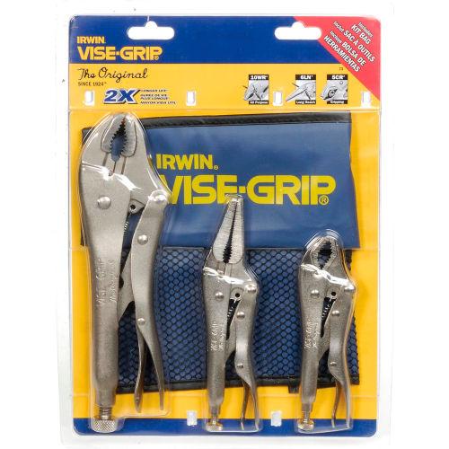 Irwin Vise-Grip 3 Pc. Original Locking Pliers Kit Bag Set: 10WR, 6LN, 5WR