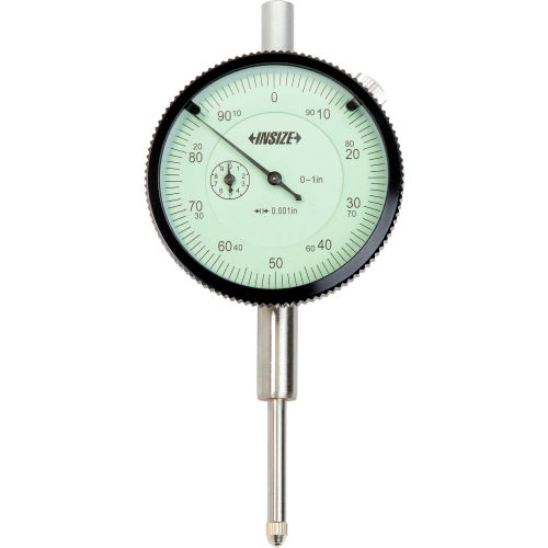 INSIZE 2307-1CAL Dial Indicator with ISO17025 Calibration Certificate 0-1