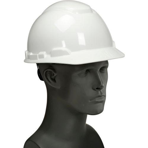 3M Hard Cap, White, 4 Point Ratchet Suspension by