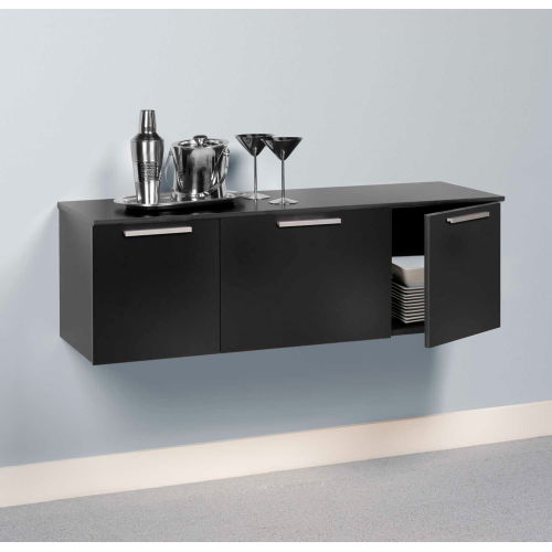 Prepac Manufacturing Wall Mounted Buffet Black by