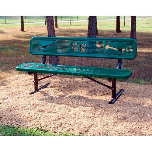 BarkPark Basic Bench Green by