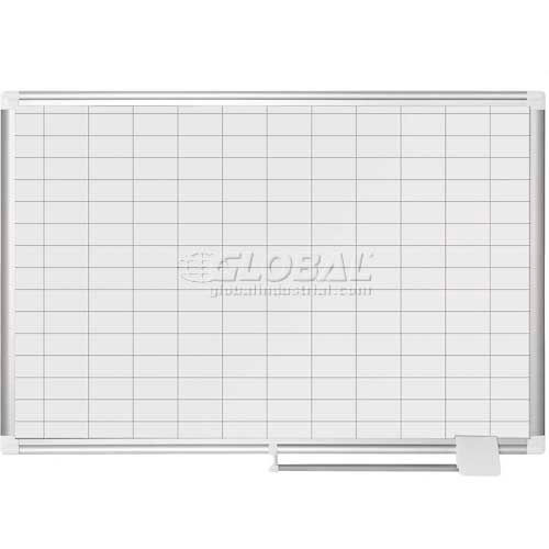 """Magnetic Planning Board 1x2 Grid 36""""W x 24""""H Steel Surface by"""