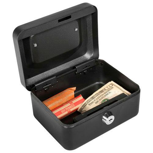 "Barska Cash Box With Keyed Lock CB11828 6"" x 4-1/2"" x 3-1/8"" Black by"
