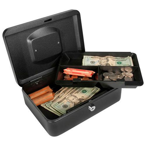 "Barska Cash Box With Keyed Lock CB11832 10"" x 7-1/8"" x 3-9/16"" Black by"
