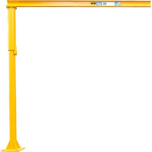 Contrx Medium Duty Floor Mounted Jib Crane, 2000 Lb. Capacity, 12' Under Beam Height, 12' Span by