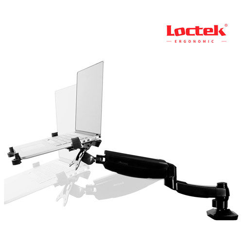 Buy Loctek Deluxe Full Motion Desk Laptop Mount/Notebook Tray