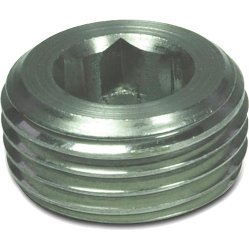 J.W. Winco 906-NI-M18X1.5-A Stainless Threaded Plug with M18 x 1.5 Tapered Thread by