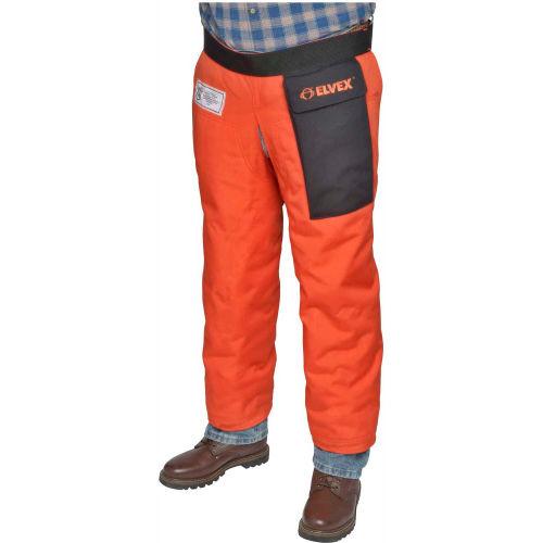 """Elvex ProChapsZ JE-9136Z, Wraparound Chainsaw Chaps, Orange, 36""""L by"""