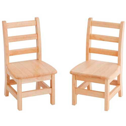 """ECR4Kids 10"""" Three Rung Ladderback Chair Assembled Package Count 2 by"""