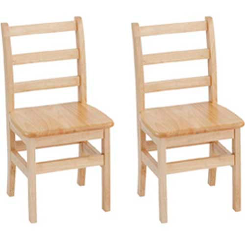 """ECR4Kids 14"""" Three Rung Ladderback Chair Assembled Package Count 2 by"""