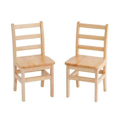 """ECR4Kids 16"""" Three Rung Ladderback Chair Assembled Package Count 2 by"""