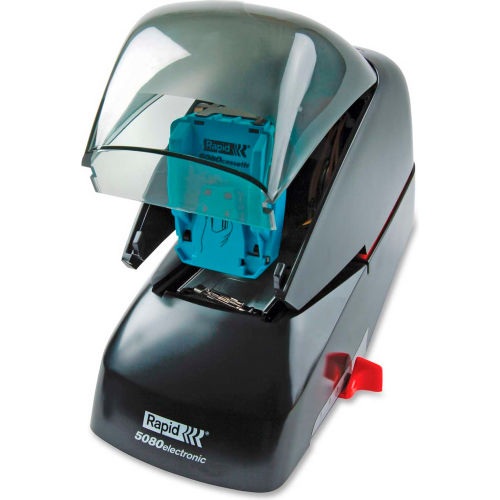 Esselte Rapid 5080e Professional Electric Stapler, 90 Sheet/5000 Staple Capacity, Black by