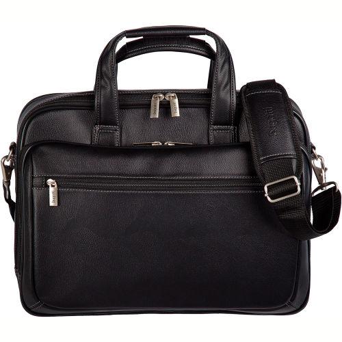 "Bugatti EXB507 Synthetic Leather Executive Briefcase, 15.6"" Computer Case Black by"