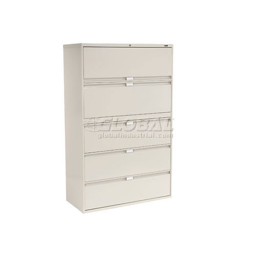 "Global 9300 Series 36""W 5 Drawer Binder Lateral File Gray by"