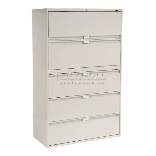 Global 9300 Series 36 W 5 Drawer Binder Lateral File Gray 250692gy Globalindustrial Com