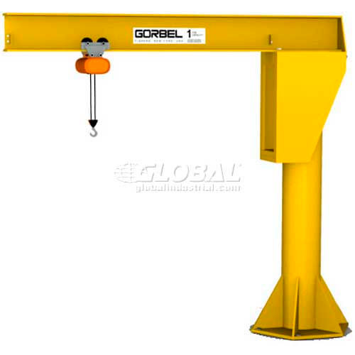 Gorbel HD Free Standing Jib Crane, 8' Span & 12' Height Under Boom, 1000 Lb Capacity by