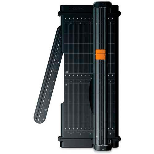 "Fiskars SureCut Paper Trimmer, 12"" Cutting Length, Black by"