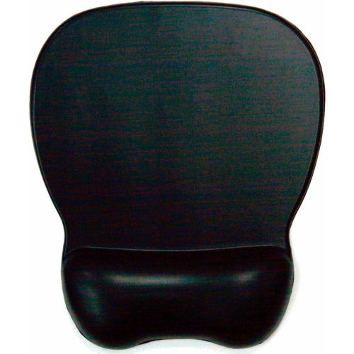Aidata GL100M Soft Skin Gel Mouse Pad with Wrist Rest, Black by