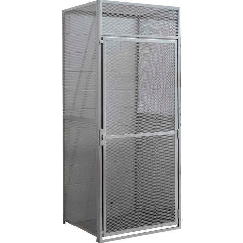 Hallowell Single Tier Bulk Tenant Storage Locker 36 Wx36 Dx90 H Dark Gray Unassembled 442657 Globalindustrial Com