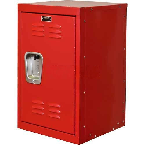 "Hallowell HKL1515(24)-1RR Kid Mini Locker, 15""W x 15""D x 24""H, Relay Red by"