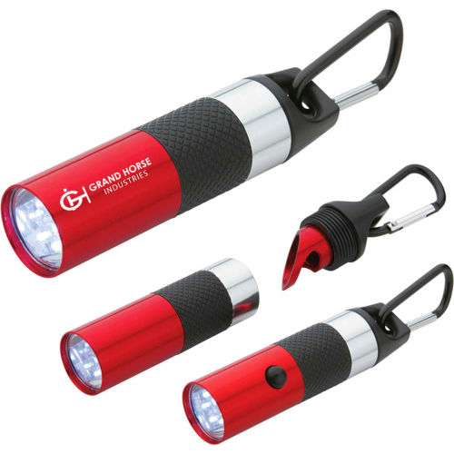 Custom Flastlight Aluminum LED Torch w/Bottle Opener by