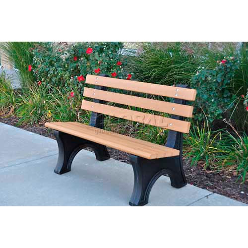 Comfort Park Avenue Bench, Recycled Plastic, 8 ft, Cedar by