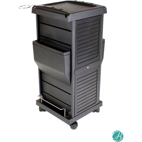 AYC Group Claire Lockable Salon Organization Trolley Black by