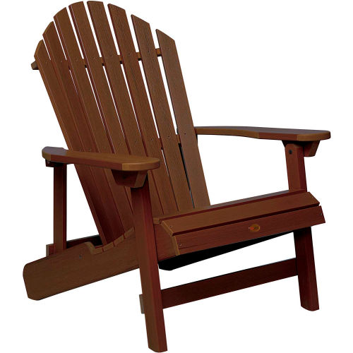 highwood Folding & Reclining King-Size Adirondack Chair Weathered Acorn by