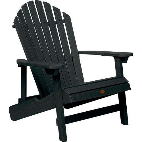 highwood Folding & Reclining King-Size Adirondack Chair Black by