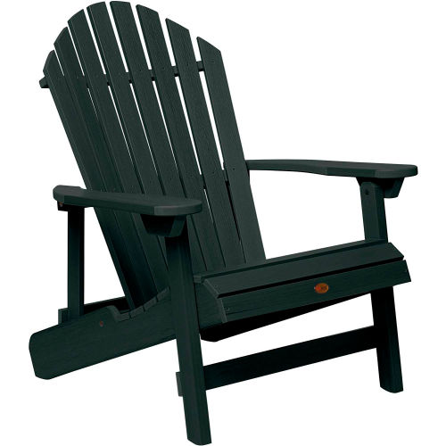 highwood Folding & Reclining King-Size Adirondack Chair Charleston Green by