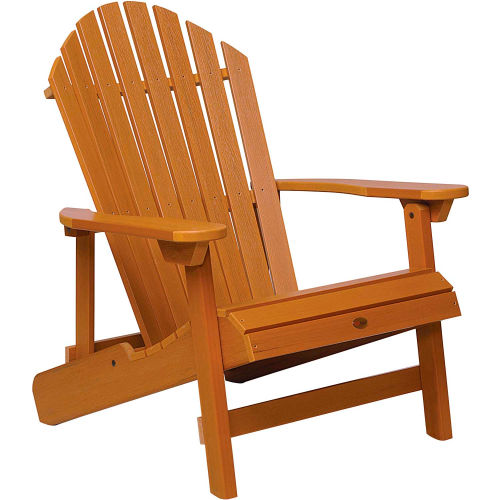 highwood Folding & Reclining King-Size Adirondack Chair Toffee by