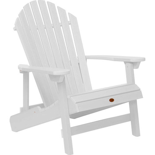highwood Folding & Reclining King-Size Adirondack Chair White by