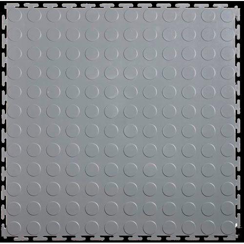 19.5 x 19.5 Lock-Tile LK002L Light Gray Lock Tile Coin Surface