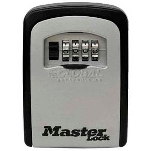 Master Lock 5401D 4-Digit Locking Combination Wall Mount Keylock Box Holds 1-5 Keys by
