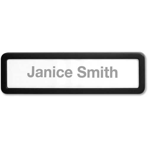 Lorell Cubicle Nameplate Black by