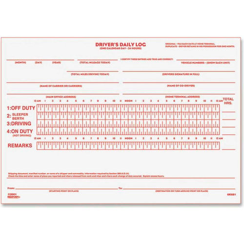 "Rediform Driver's Daily Log Book, 2-Part, 5-1/2"" x 7-7/8"", 31 Sets/Pad by"
