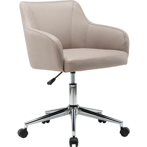 Techni Mobili Comfy and Classy Home Office Chair Low Back Leather Beige by